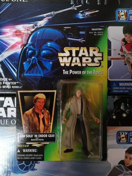 Star Wars The Power Of The Force - HAN SOLO IN ENDOR GEAR - Figura Kenner