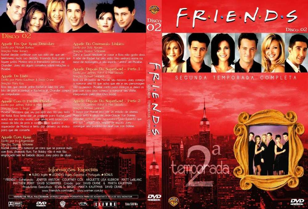 Friends La Segunda Temporada Completa ORIGINAL