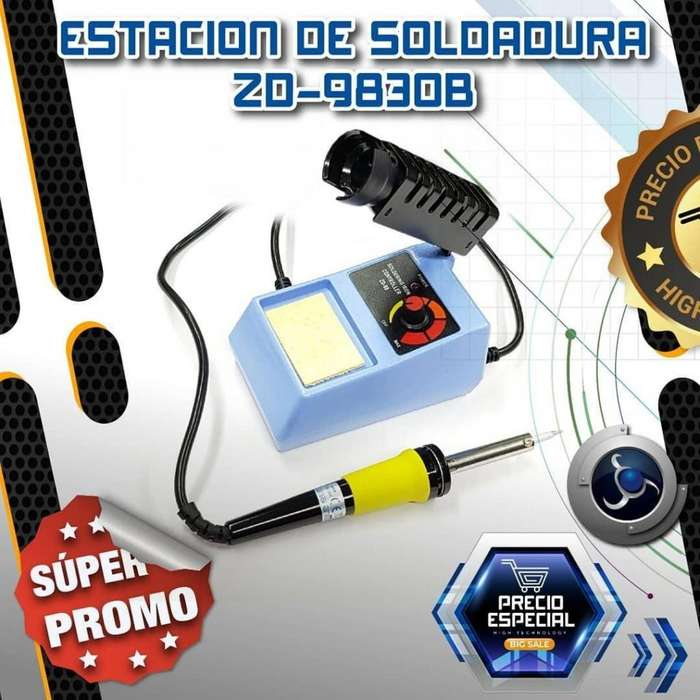 ESTACION DE SOLDADURA 200 A 450 GRADOS ZD-9830B **NUEVO**
