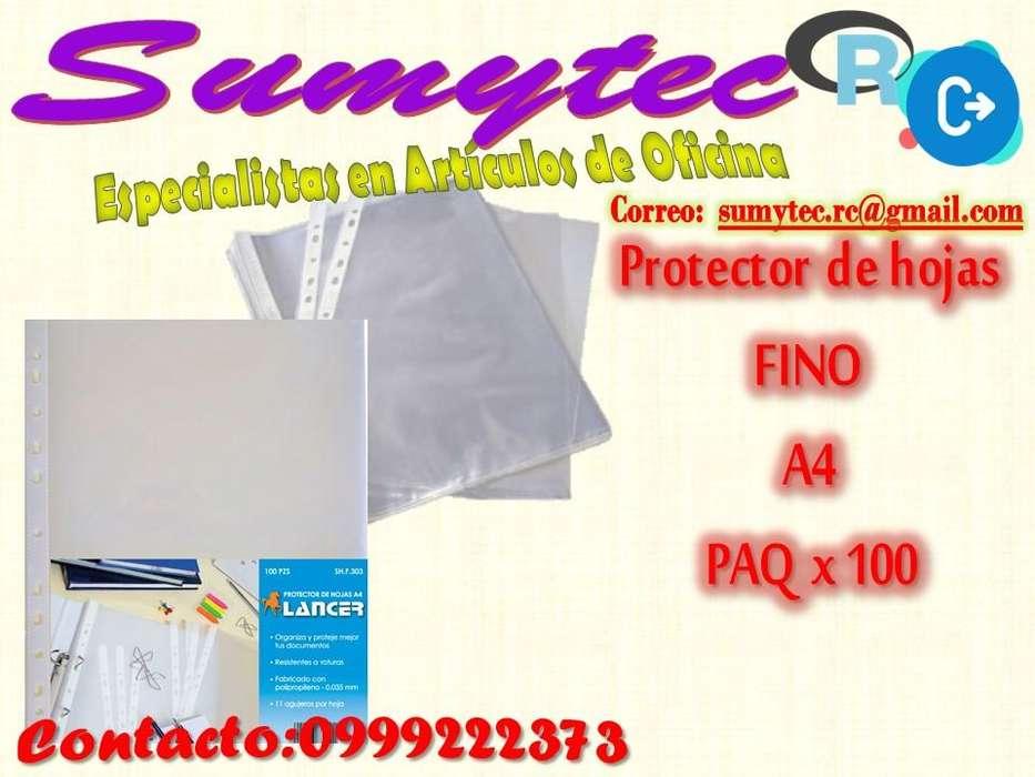 PROTECTOR DE HOJA A4