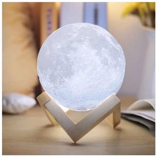 Lámpara Luna 3D Inalámbrica 12 cm Decoración RF 6023