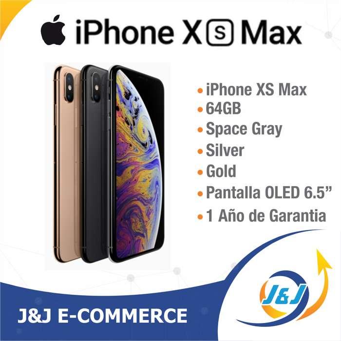 *** NUEVO SELLADO IPHONE XS MAX DE 64GB ESTRENAR 1 AÑO DE GARANTIA BITCOIN ***