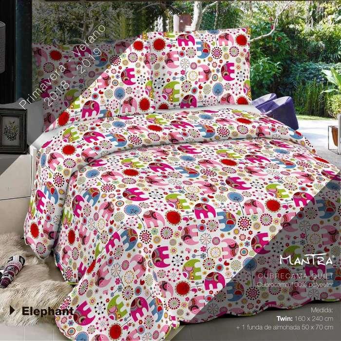 Cover Quilt Estampado 2 1/2 plazas Reversibles-cabildo 2280 local 54- hacemos envíos
