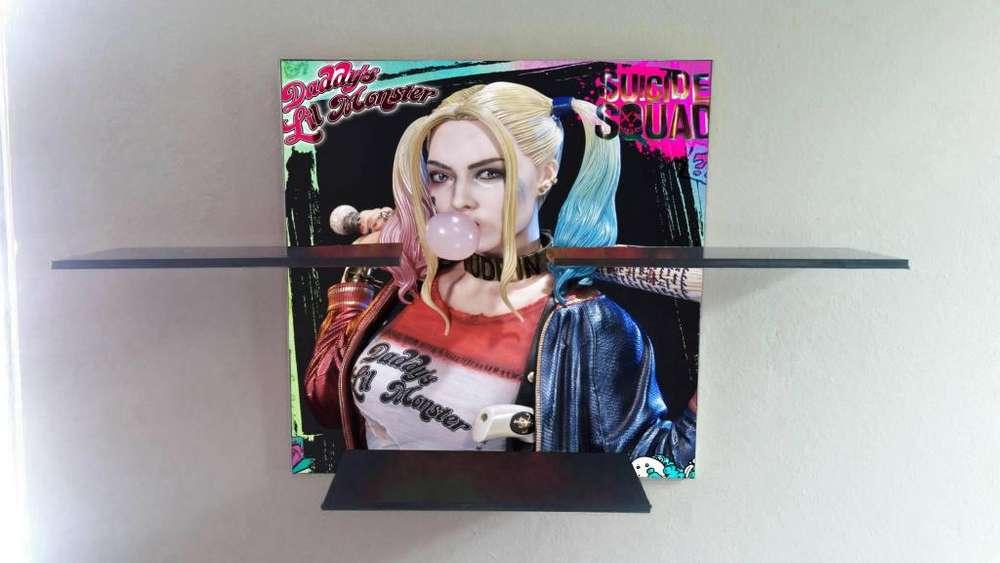 wason harley quenn dc comics repisa para figuras