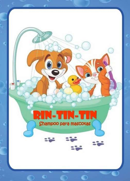 Shampoo para mascotas Rin-Tin-Tin