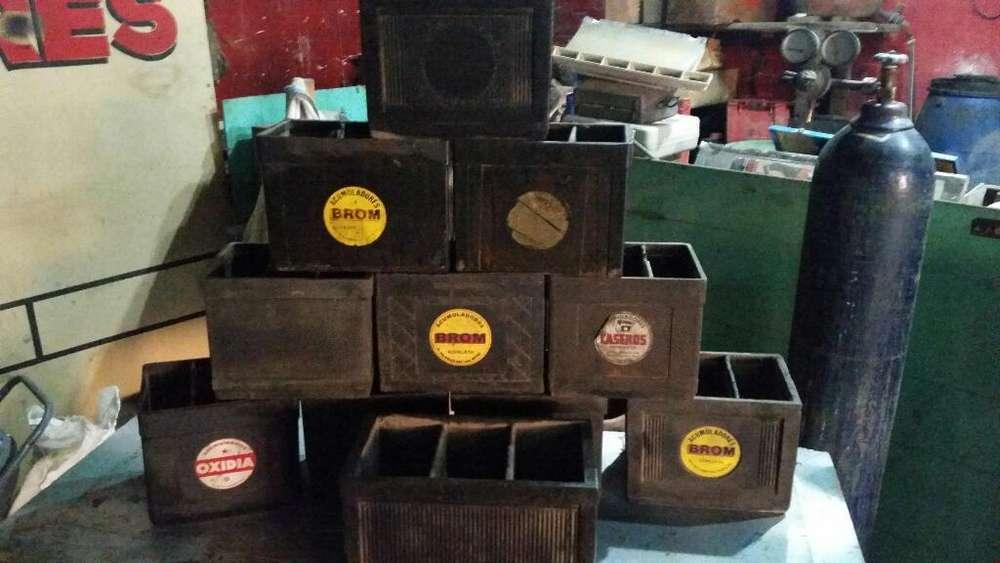 Cajones de Bateria Antiguos de Baquelita