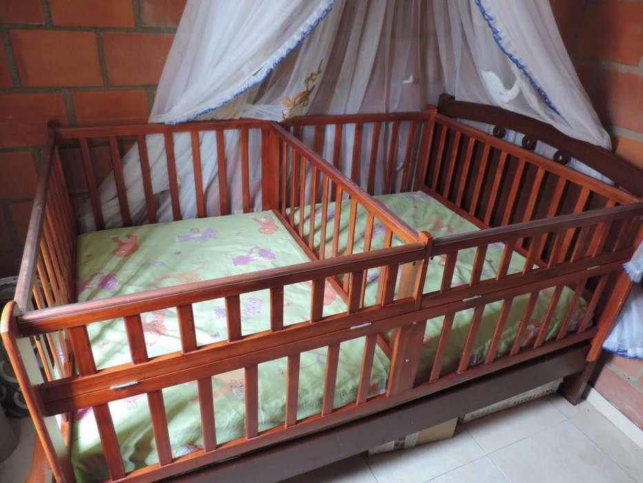 Barandas cama cuna mellizos gemelos doble