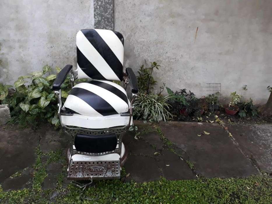 hermoso sillon de peluqueria para caballeros