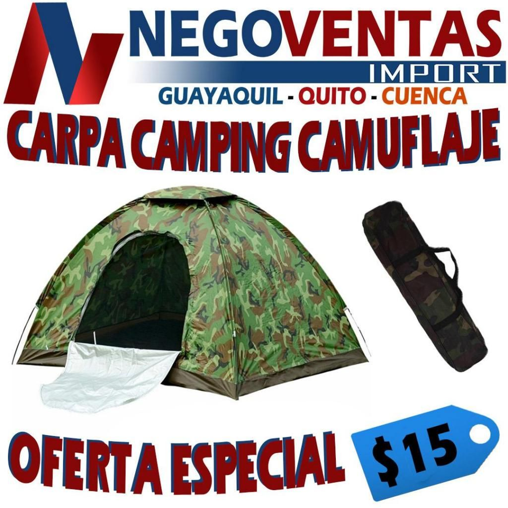 CARPA CAMPING DEPORTIVA IMPERMIABLE 2X2