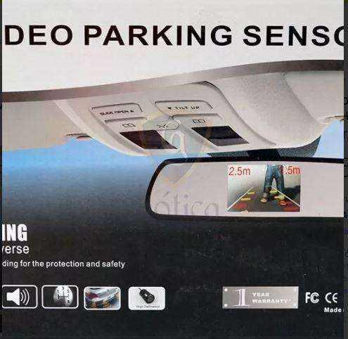 Combo Espejo Monitor 43 Pulg Sensores Camara Reversa