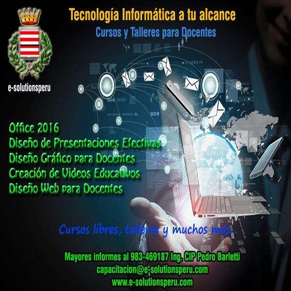 Clases de Computación a Profesores de diversas áreas.