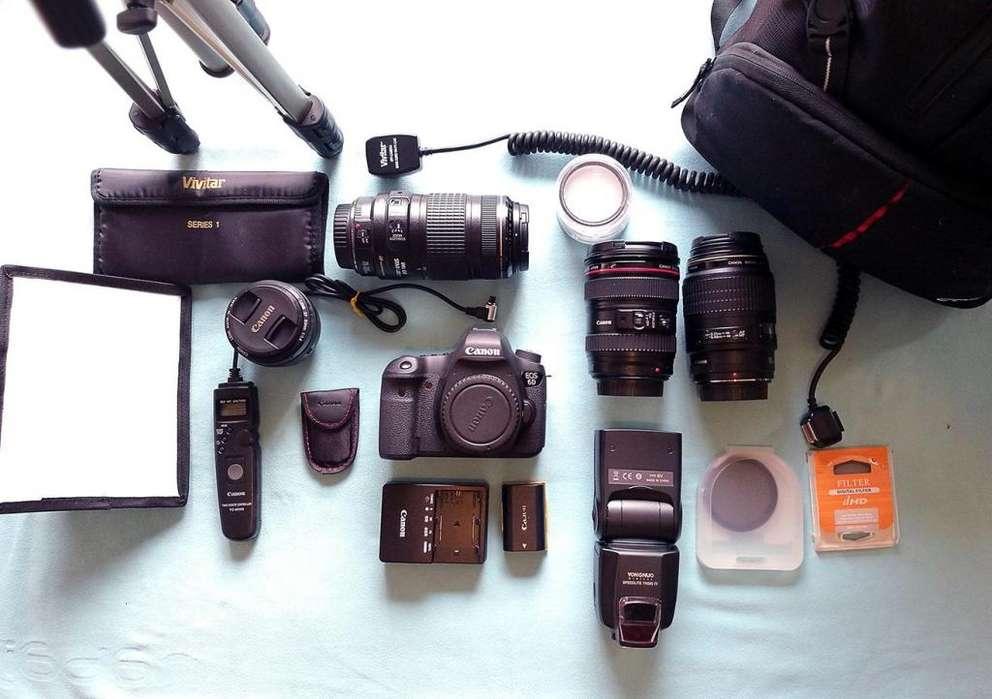 Vendo excelente equipo CANON de fotografía profesional en perfecto estado