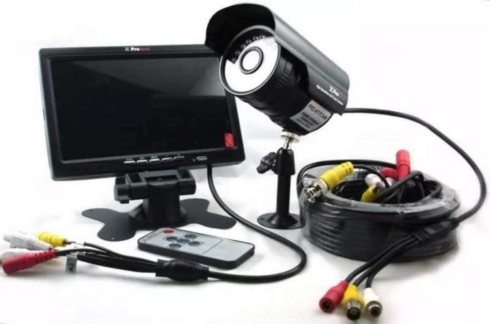 Kit Seguridad Cámara Hd <strong>monitor</strong> Led