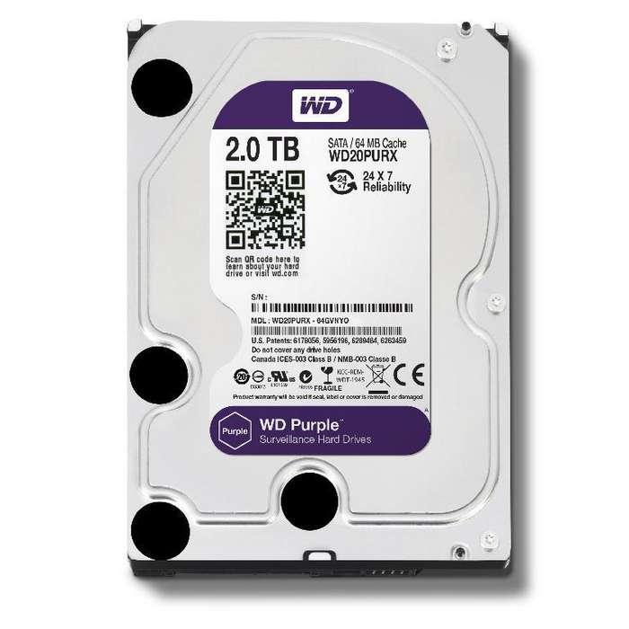 Disco duro 2 TB - Western Digital - Purple - Nuevo.