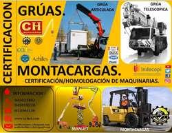 CURSOS OPERADORES DE MONTACARGAS, APILADOR, RIGGER,GRUAS CAPACITACION, CERTIFICACION Y HOMOLOGACION