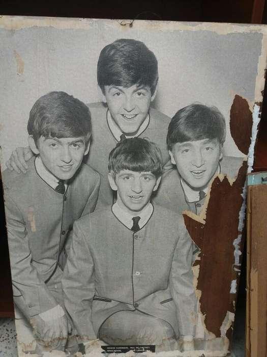 Afiche Antiguo de Los Beatles