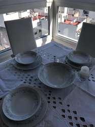 Juego de Platos Porcelana 12 Personas