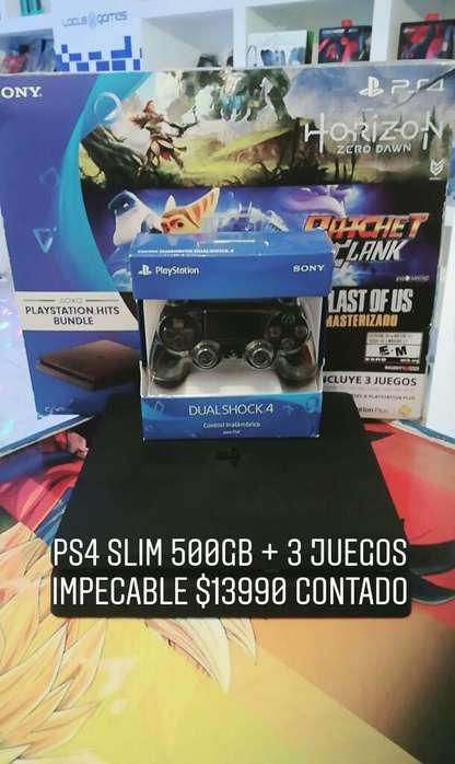 Ps4 Slim 500gb 3 Juegos Locus Games