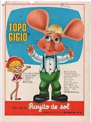 1960's Muñeco Topo Gigio Rayito de Sol 28cm alto ! Juguete antiguo