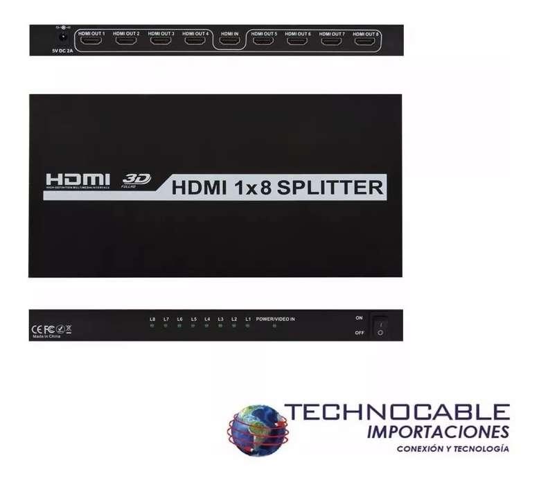 Hdmi Splitter 1x8 Uhd 4k X 2k