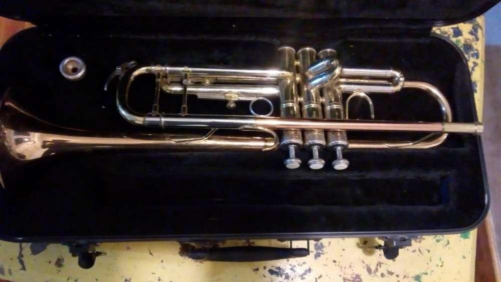 Trompeta Knight JBTR-400 c/ estuche rígido .