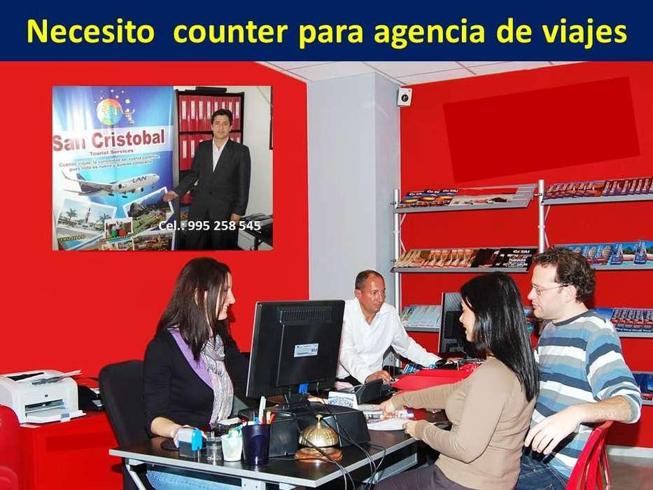 Señorita para agencia de viajes