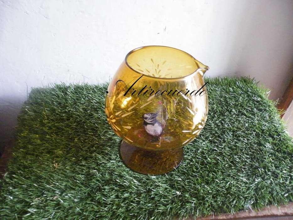 copa gigante vitage en vidrio años 70