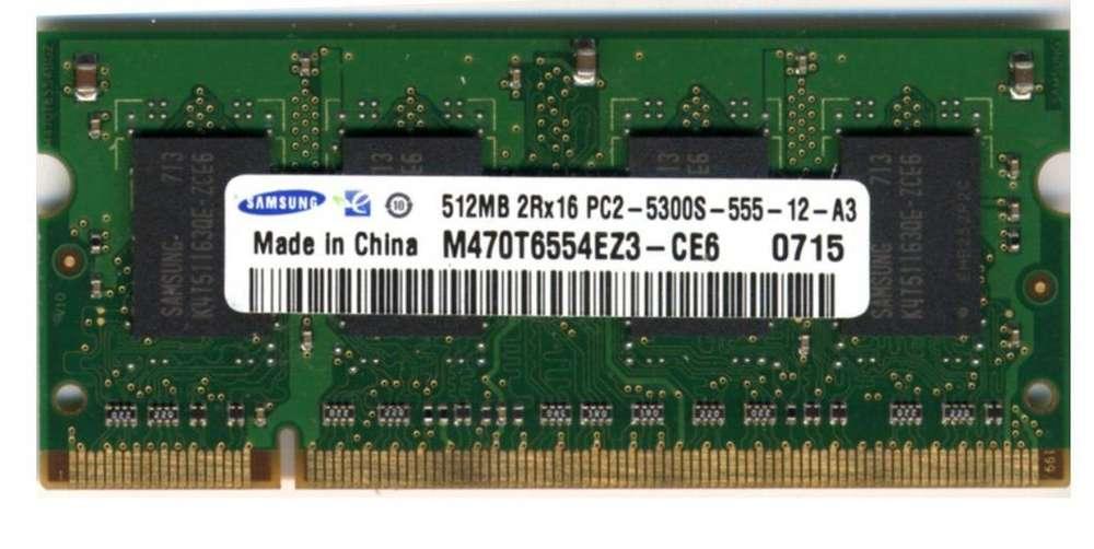 MEMORIA RAM SAMSUNG DDR2 512MB PARA LAPTOP