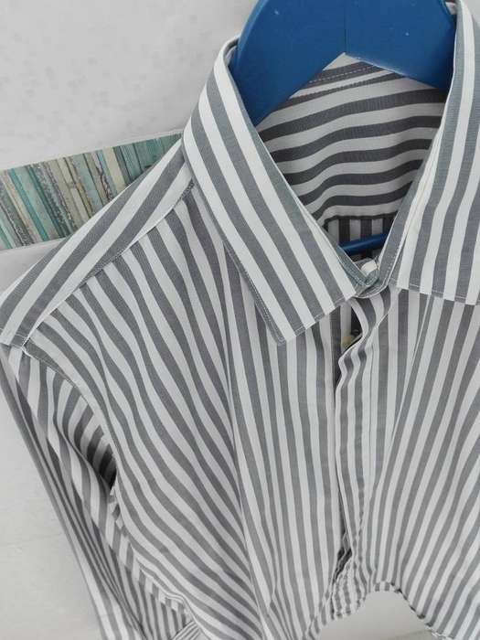 <strong>camisa</strong> manga larga de hombre talle 40 M