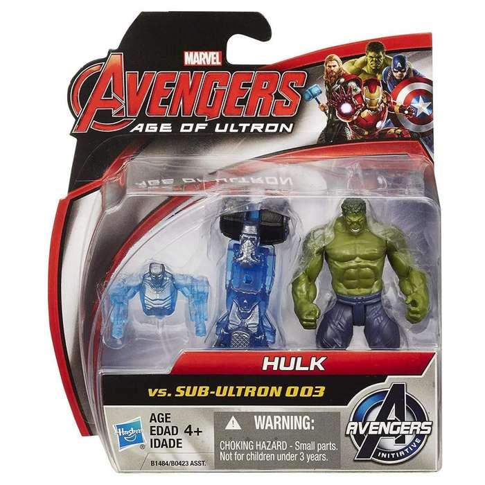 Marvel Avengers Age Of Ultron Hulk VS. Sub-ultron 003 paquete de figuras de 2,5 pulgadas