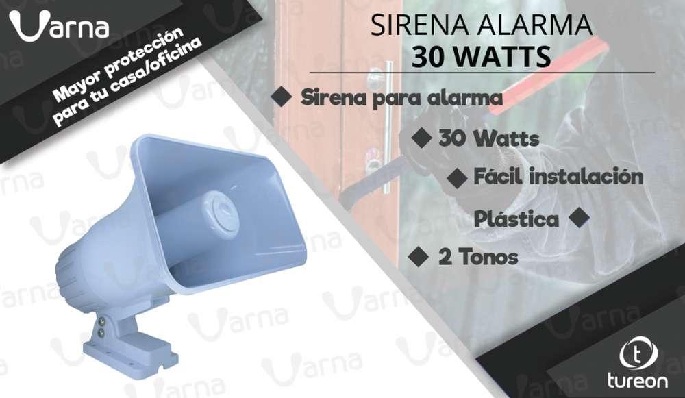 Sirena alarma de seguridad 30 watts