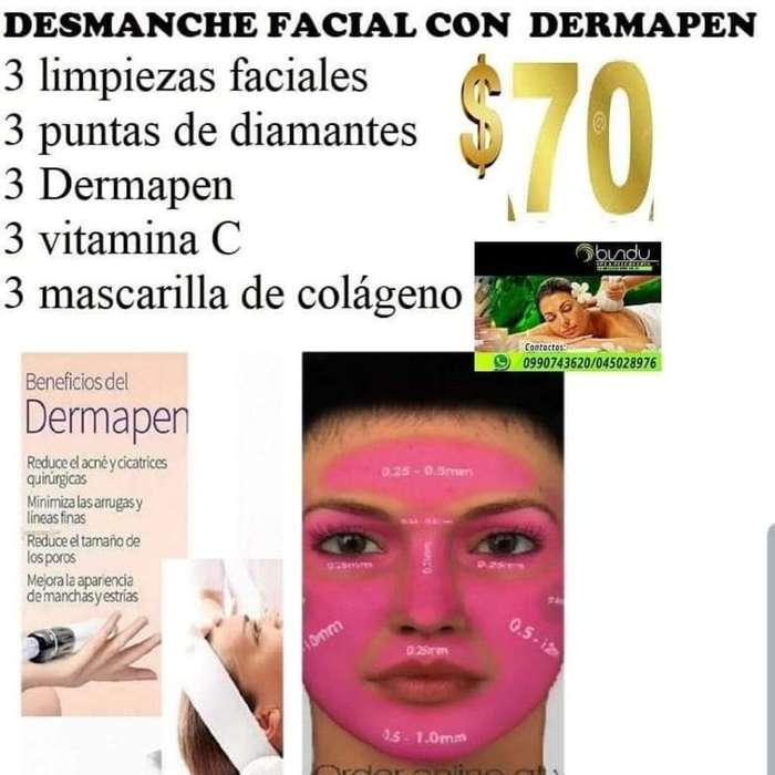 Desmanche Facial con Dermapen Y Diamante