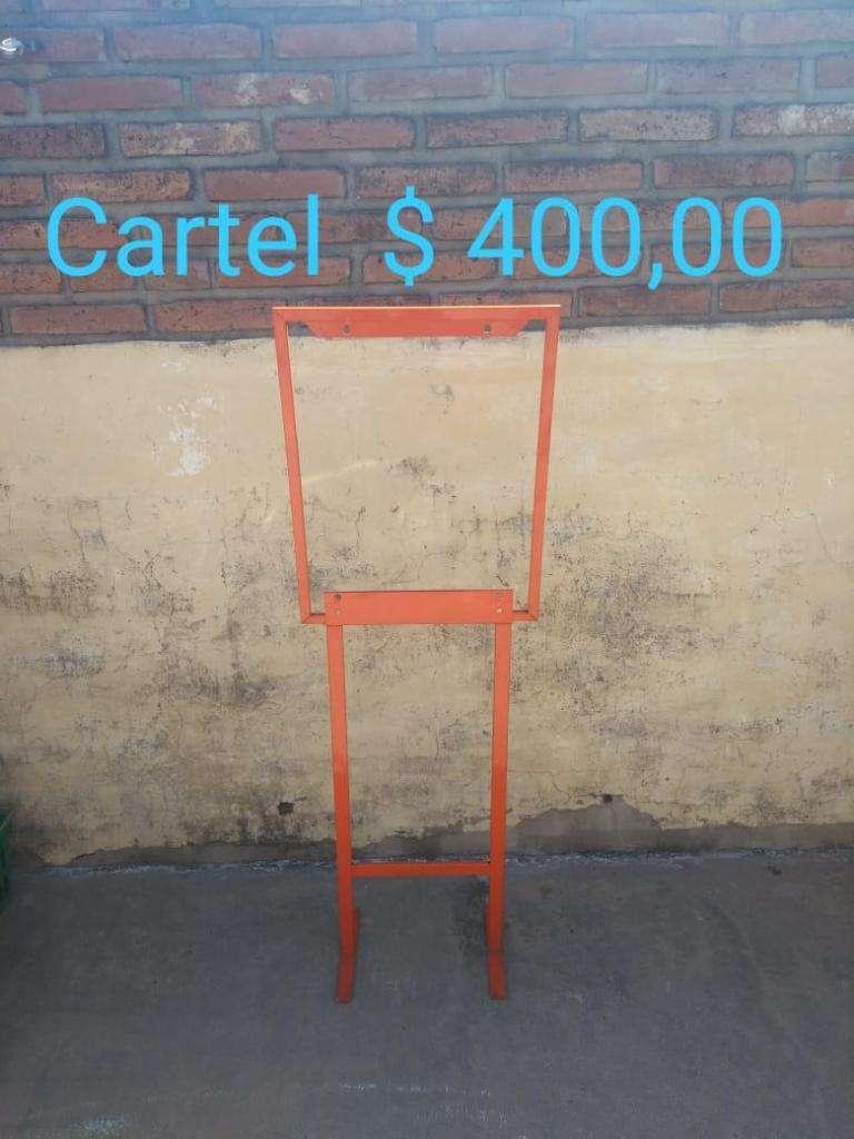 Marco para Cartel, medidas: 0,45m. de largo x 1,37m. de alto