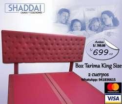 Colchon King Size Juego 2 Cuerpos Box