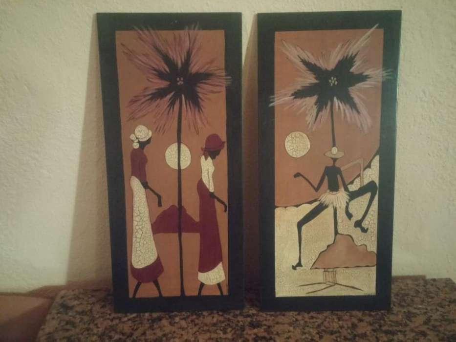 <strong>cuadros</strong> de Africanas Pintados a Mano