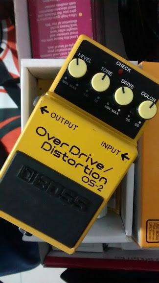 pedal BOSS over drive distortion os2