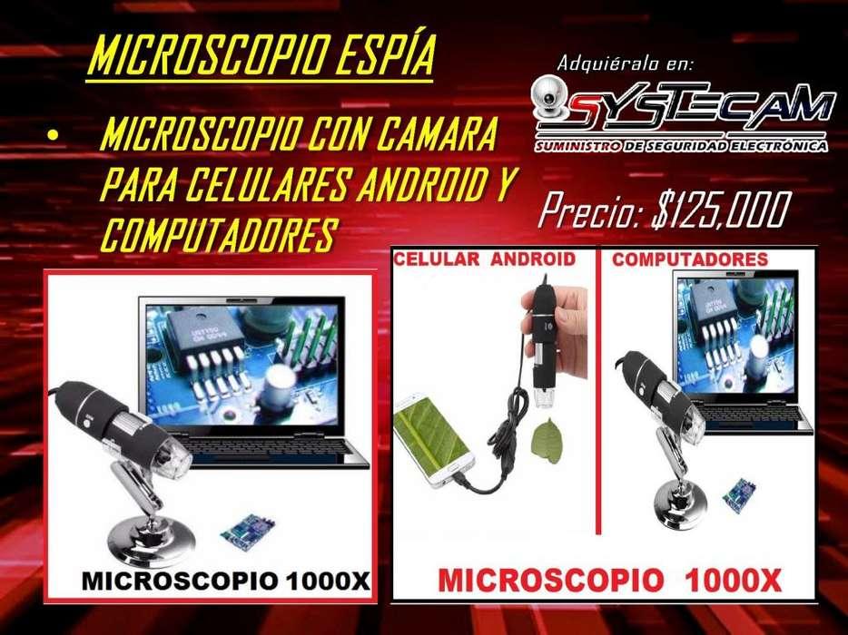 Microscopio Digital real 1000x HD para celulares android iphone ios y computadores