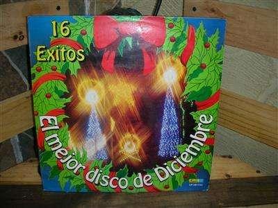 Long Play Lp Disco Acetato Pasta Vinilo Vinyl CD 16 EXITOS EL MEJOR DISCO DE DICIEMBRE DISCOS FUENTES