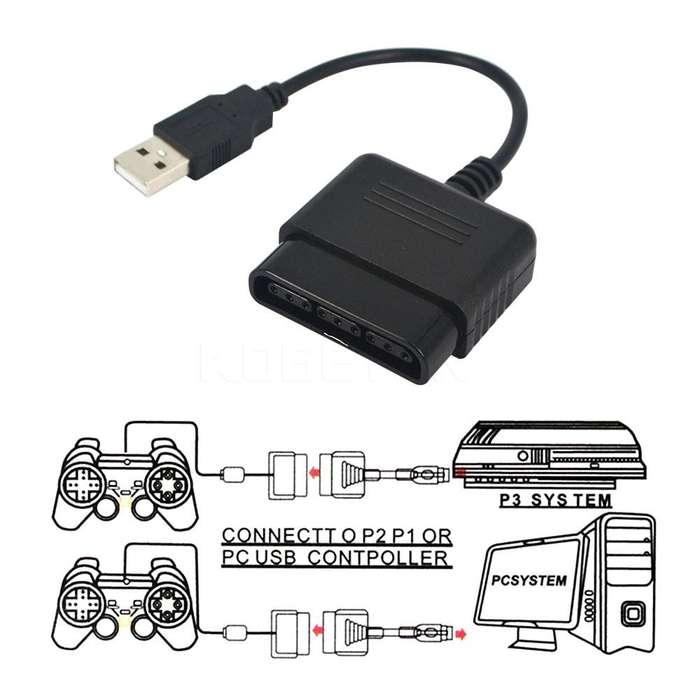 Conversor Adaptador Joystick De Ps2 Playstation 2 A Pc Usb