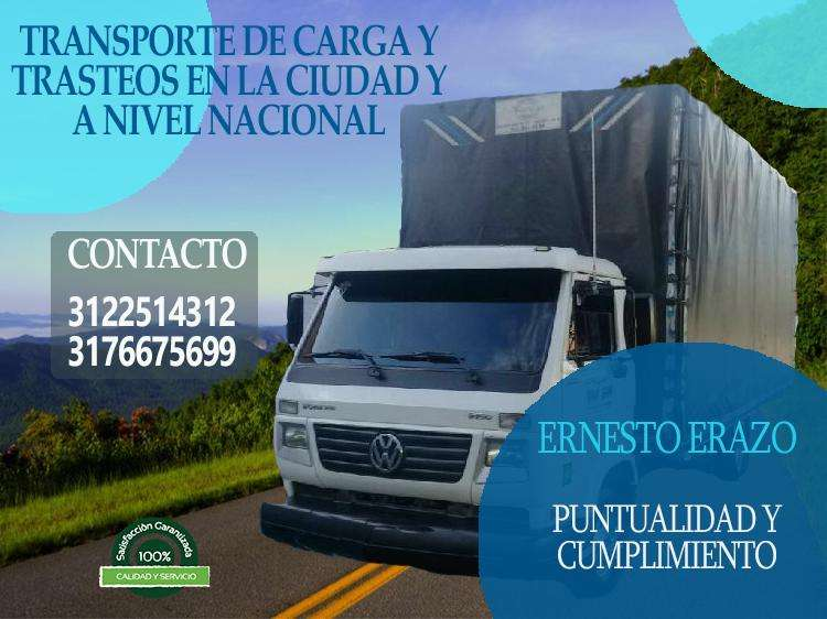 TRANSPORTE DE CARGA, TRASTEOS, MUDANZAS, ACARREOS, POPAYAN, CALI, NACIONAL COLOMBIA CEL 3122514312