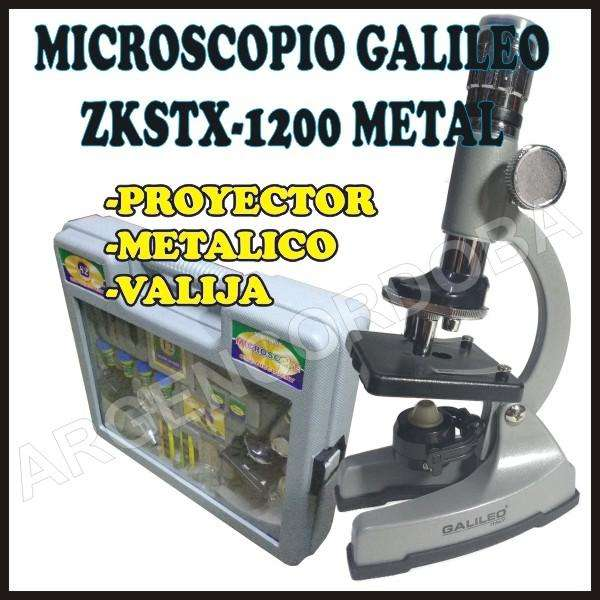 MICROSCOPIO GALILEO ZKSTX1200 METAL CON MALETIN