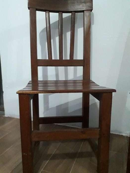 6 <strong>sillas</strong> de Madera Algarrobo ,nuevas