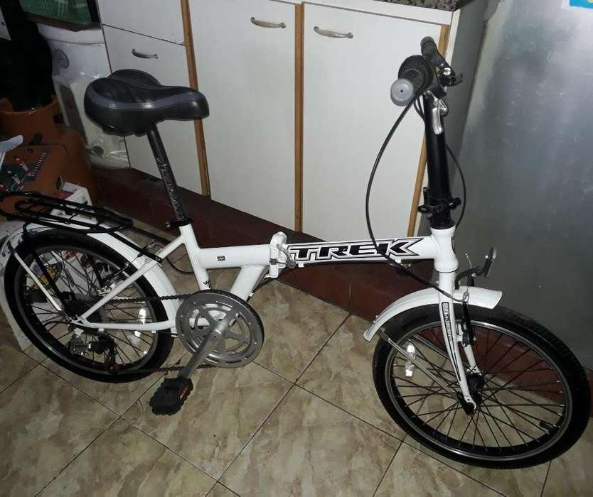 Bicicleta Halley Plegable Blanca
