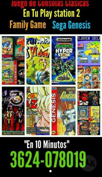 Play 2 Juego Sega Nintendo en Usb