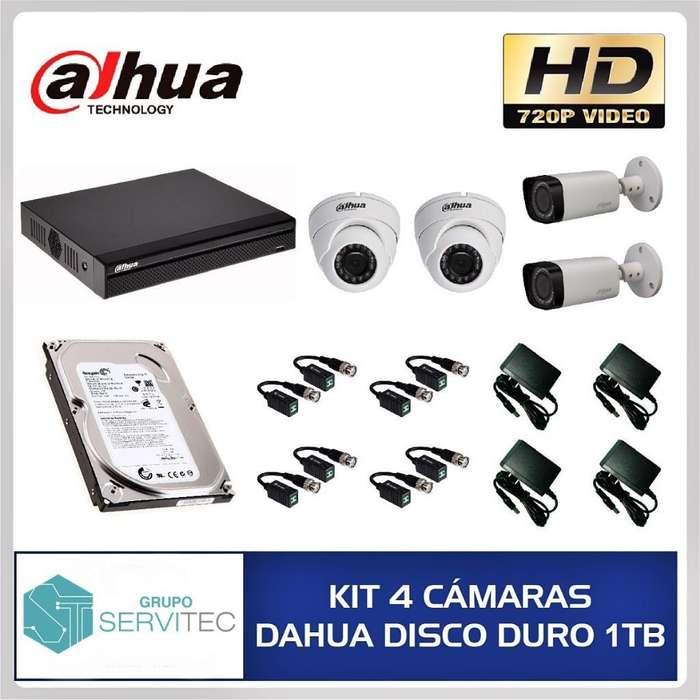 Kit 04 Cámaras Hd Dahua