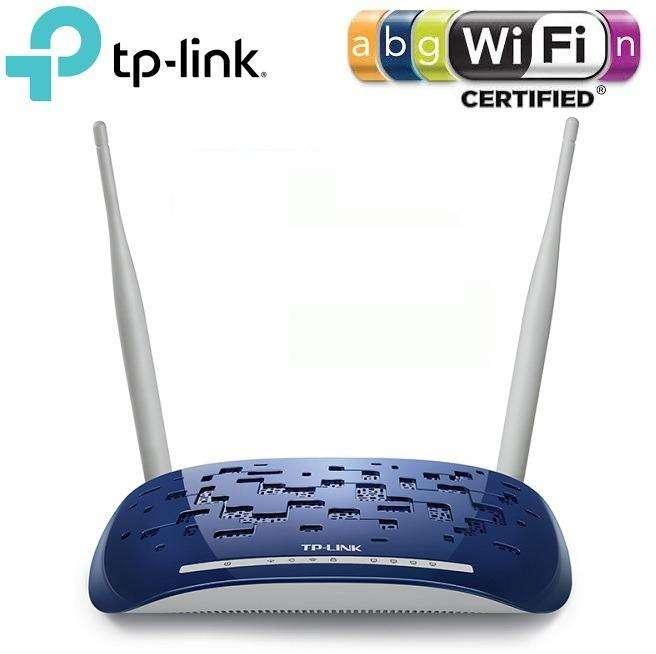 ROUTER <strong>modem</strong> ADSL2 WIRELESS N TPLINK TDW8960ND CUATRO PUERTOS LAN DOS ANTENAS 300Mbps