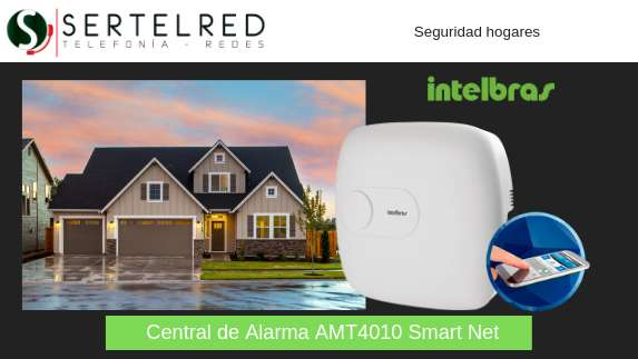 Kit de alarma casas o departamentos Intelbras Smart Net AMT 4010