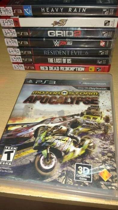vdo Motor Storm Apocalypse. recibo tarjetas. local céntrico c/garantía. juegos para play 3 físico usado. PS3