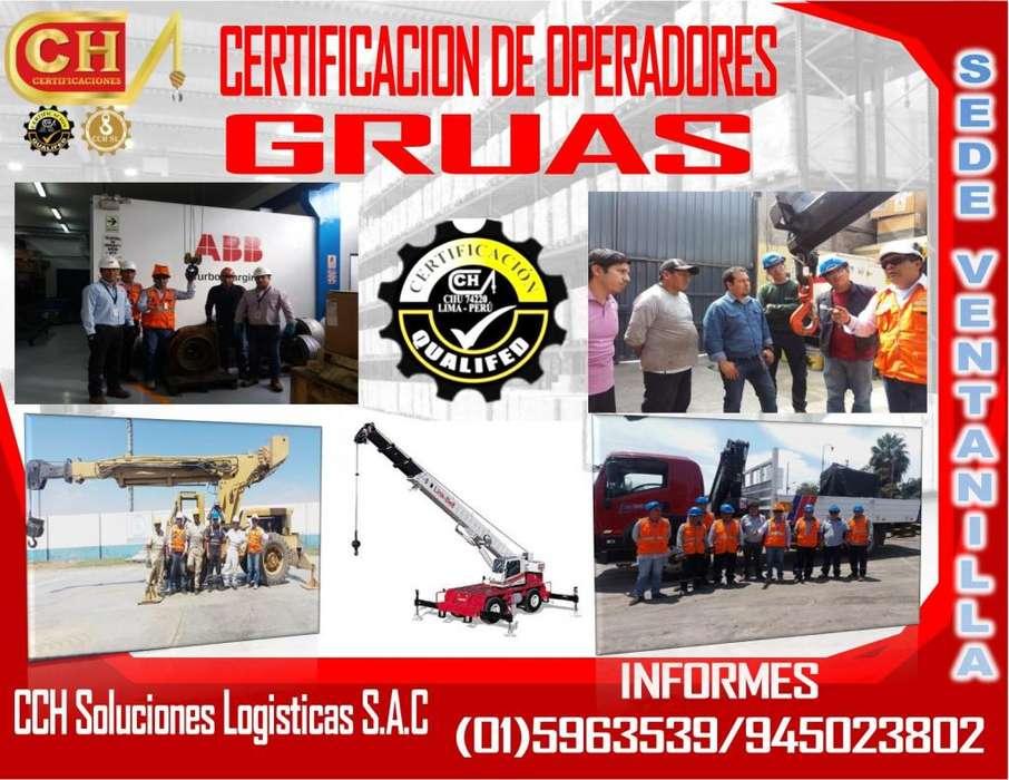 FORMACION DE OPERADORES DE GRUAS, ASME B30.5 /B30.22 /B30.3 /B30.17..CERTIFICACION, HOMOLOGACION