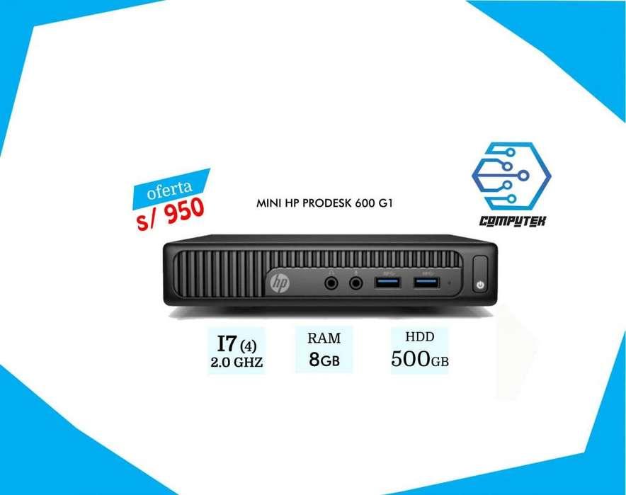 Mini Hp Prodesk 800 g1 - Core i7-4Gen, 2.0 Ghz, Ram 8Gb, Hdd 500Gb, Oferta S/ 950
